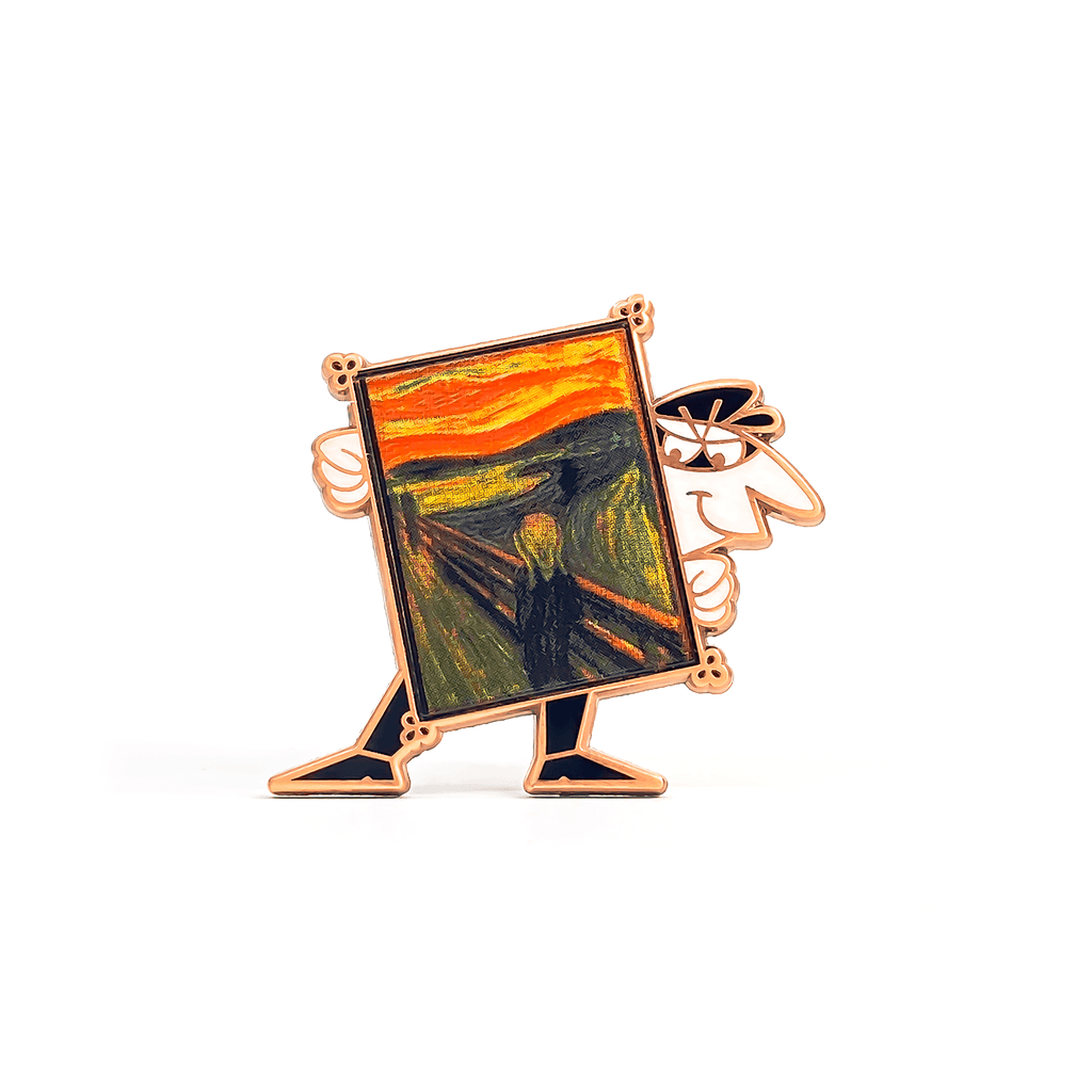 Art Thief (The Scream) enamel pin