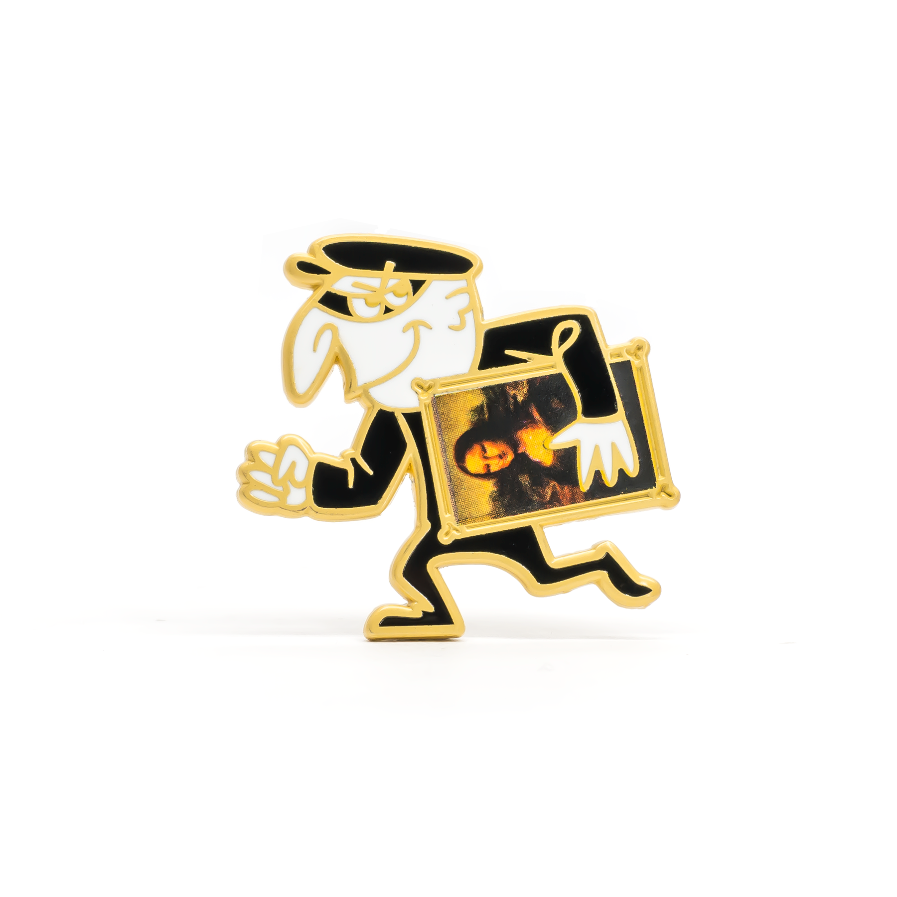 Art Thief enamel pin
