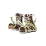Boot enamel pins