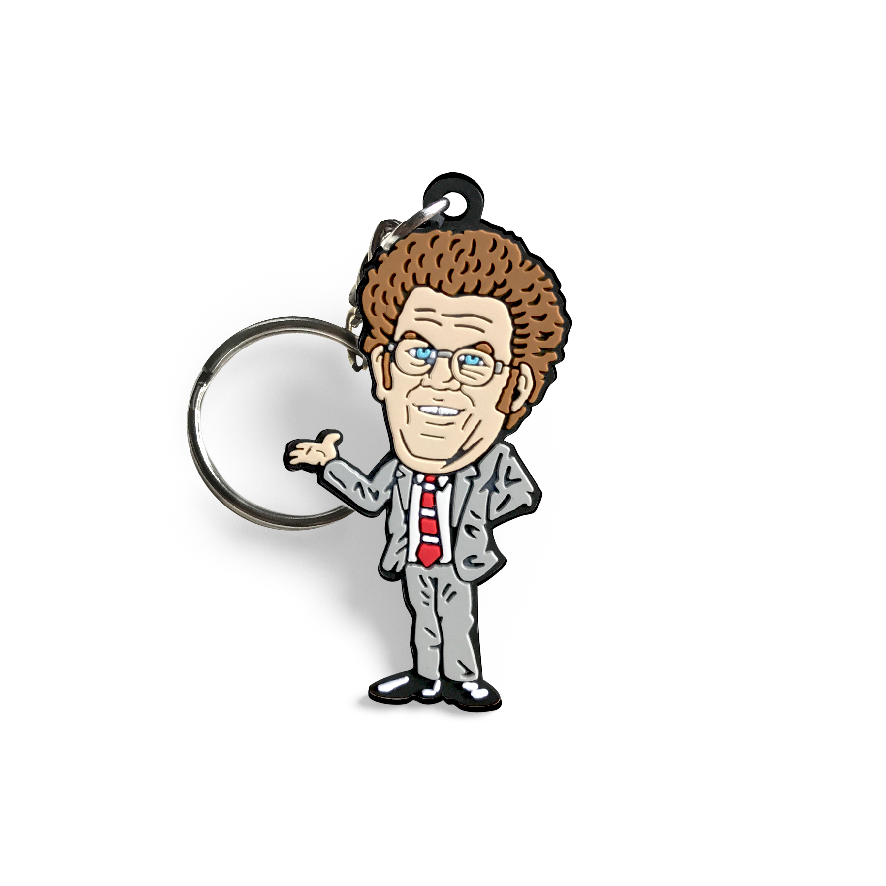 Dr. Steve Brule enamel pin and keychain set
