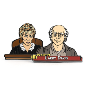 The Courtroom enamel pin set