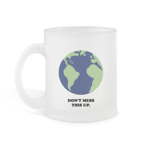 Earth Frosted Glass Mug
