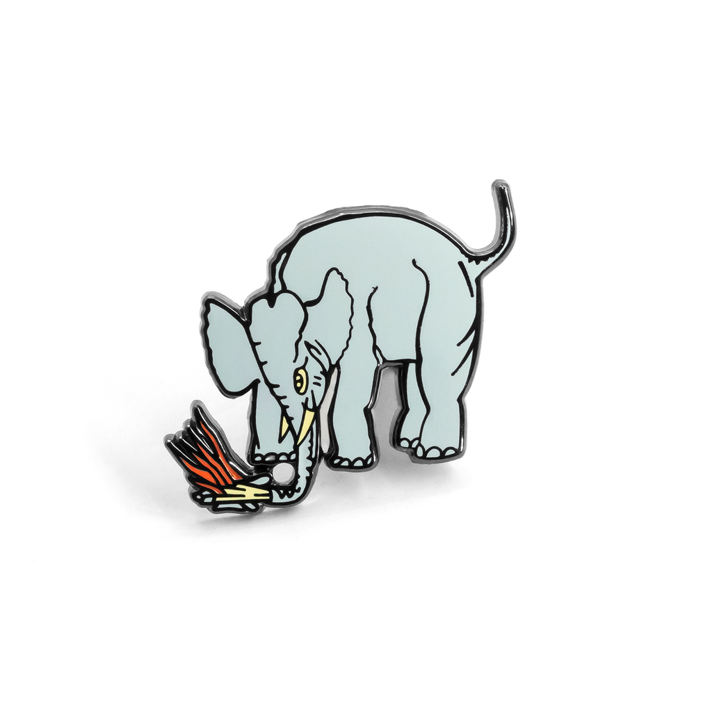 Elephant enamel pin