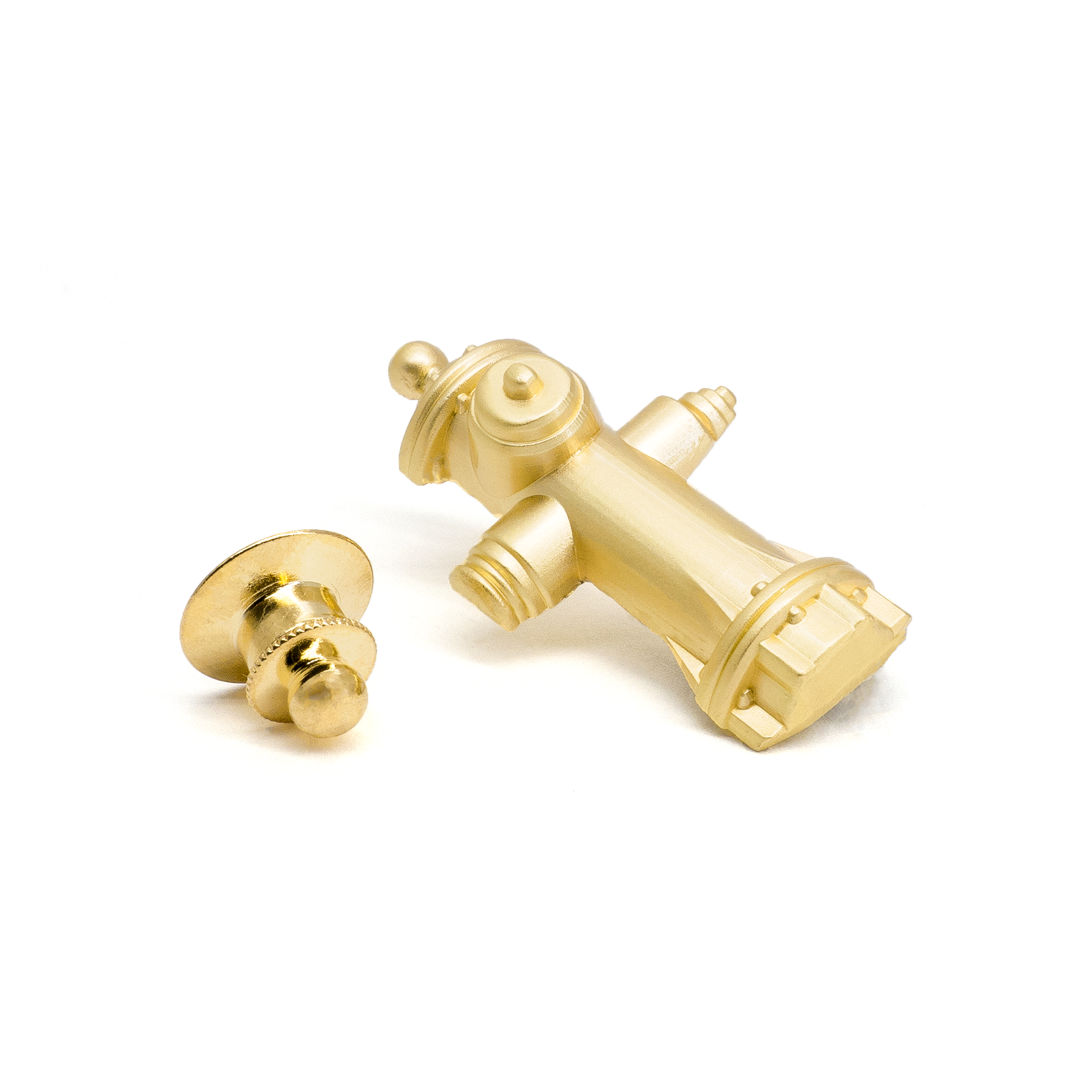 Golden Fire Hydrant molded pin