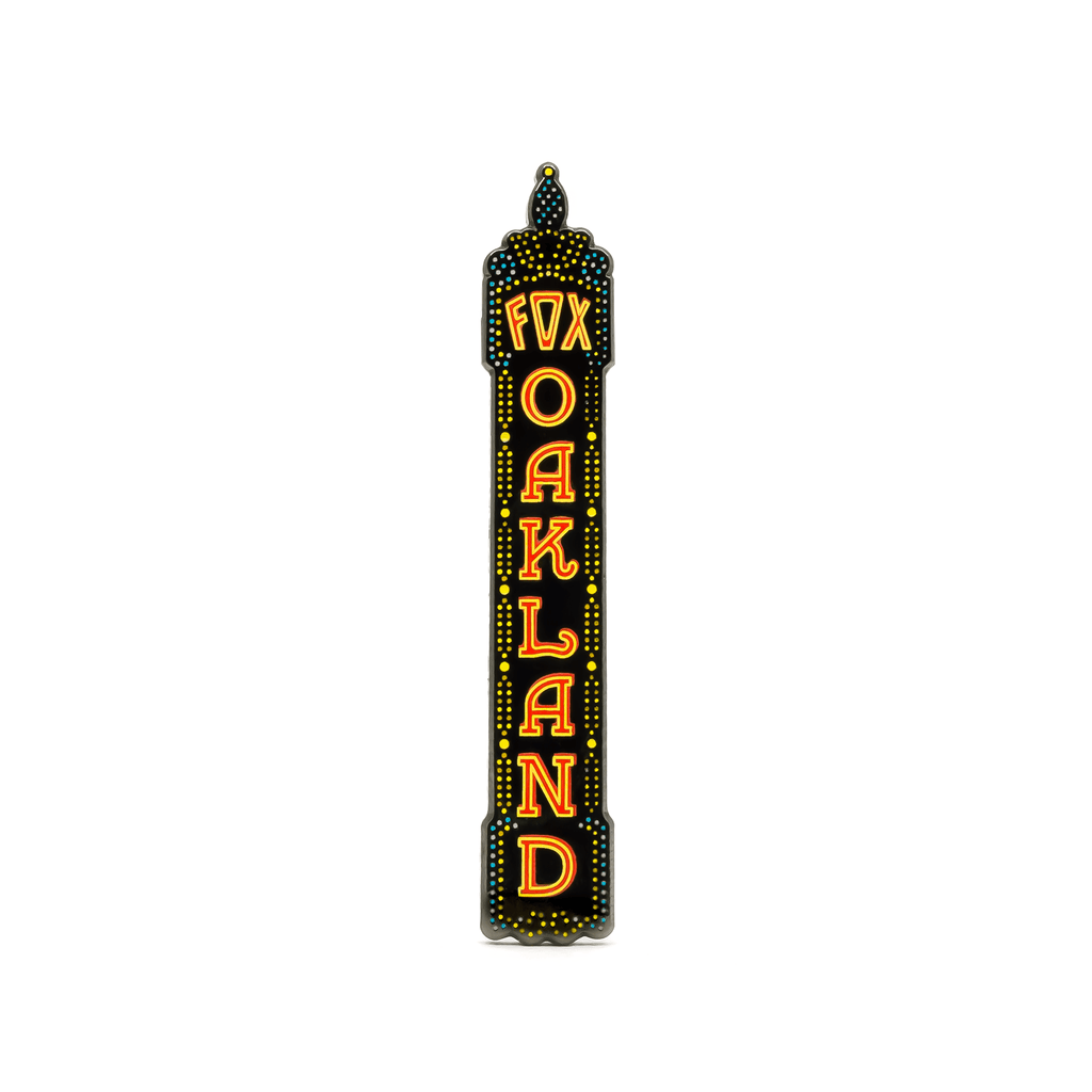 Fox Theater Oakland (Night) enamel pin