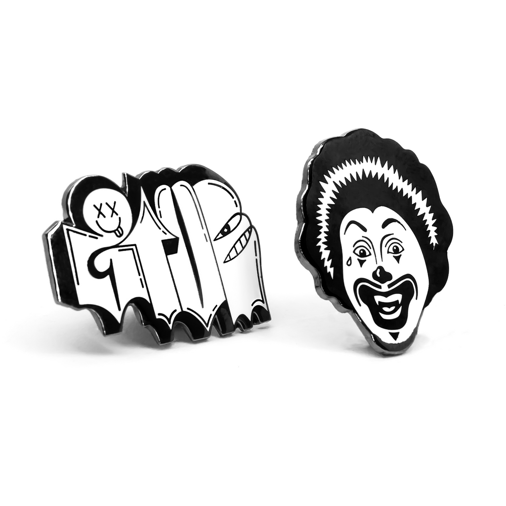 Albert Reyes GIVE enamel pin set