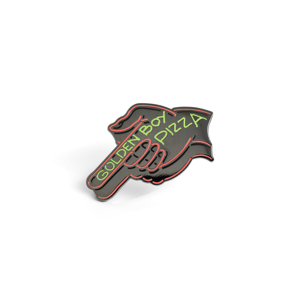 Golden Boy enamel pin