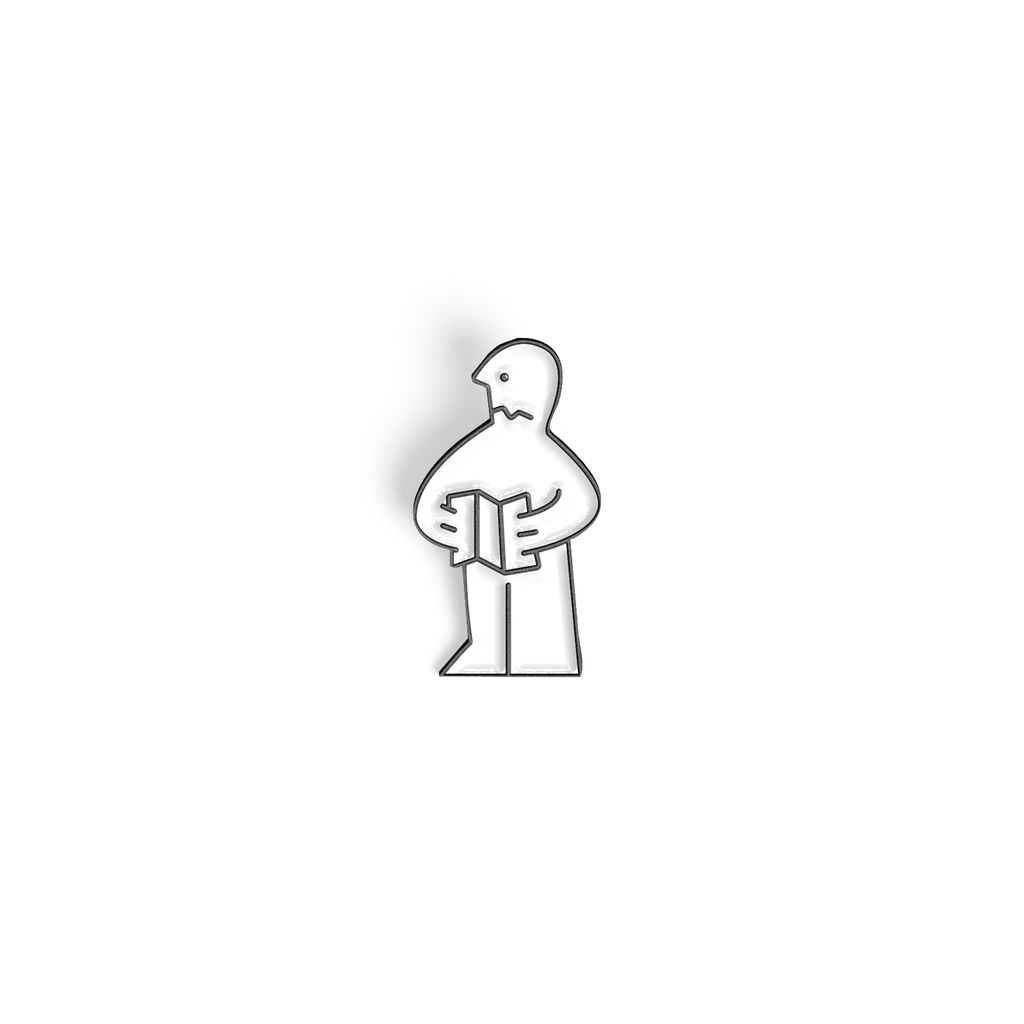 Instruction Man enamel pin