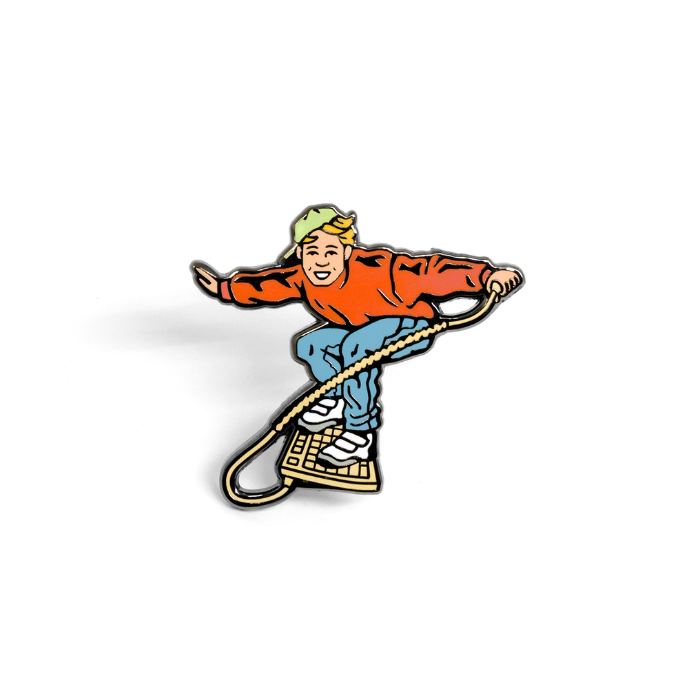 Internet enamel pin