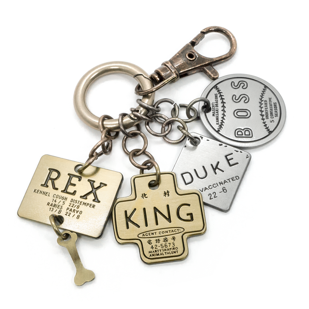 Isle of Dogs Keychain & Charm set