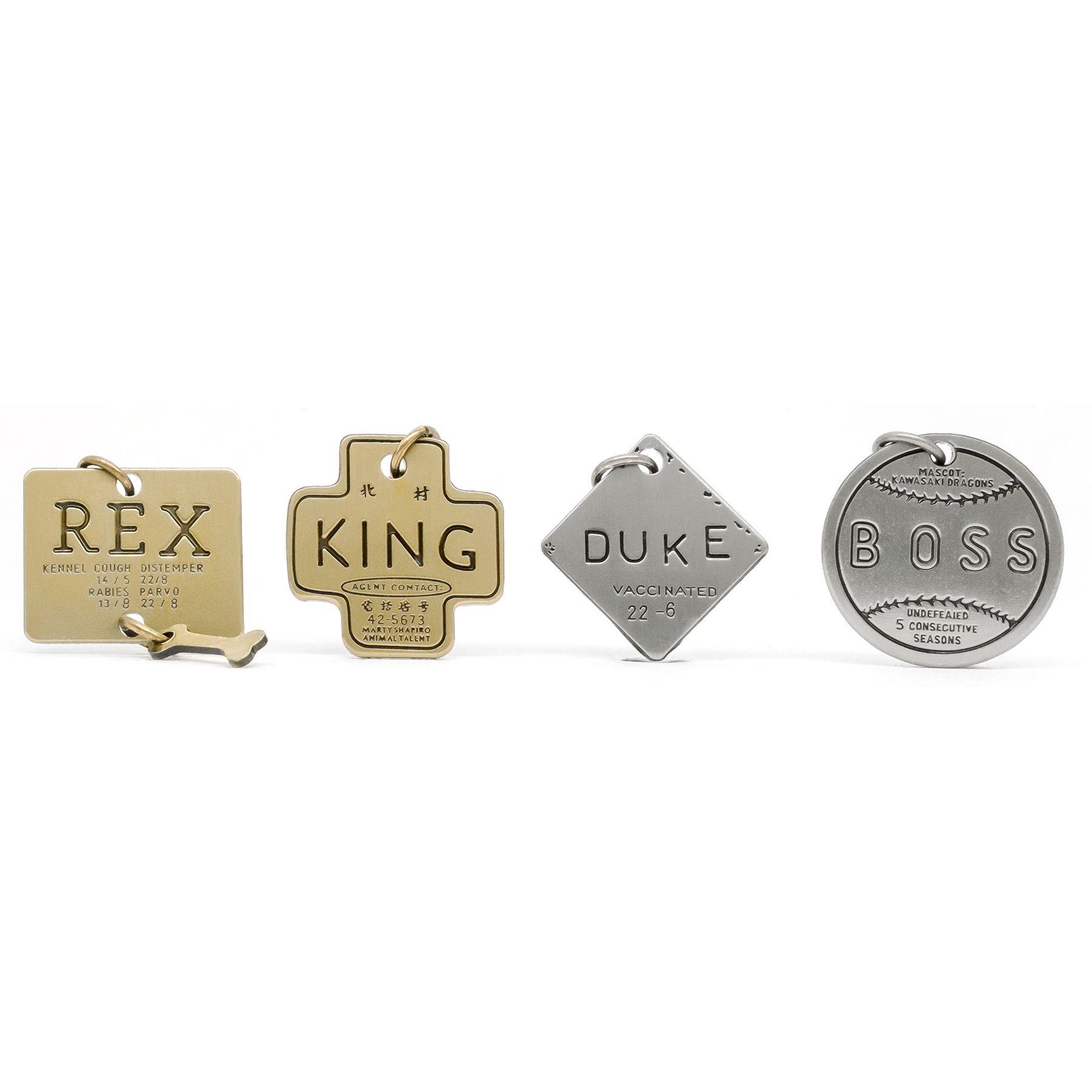 Duke (Isle of Dogs) engraved pin
