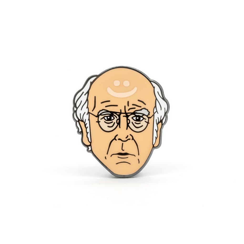 Larry David enamel pin