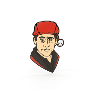 Santa Bond enamel pin