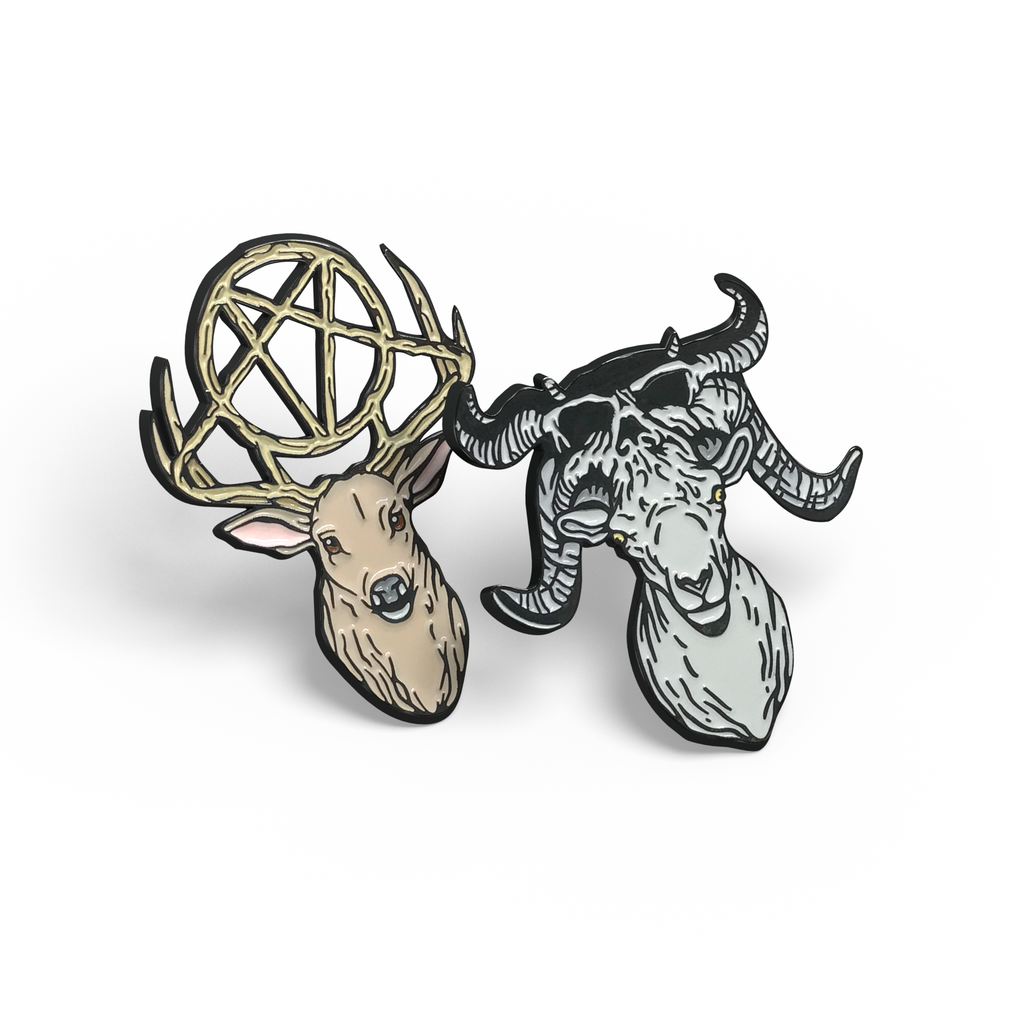 Slayer Deer & Danzig Ram enamel pin set