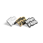 Stakes Is High enamel pin