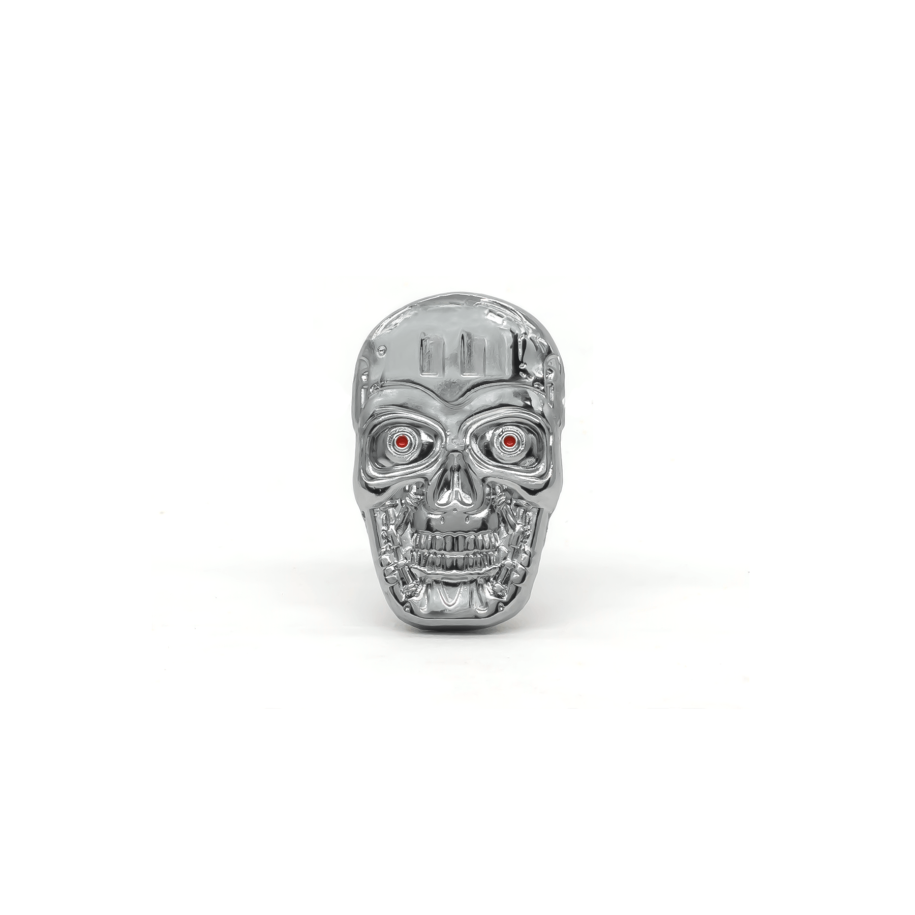 T-800 Skull (Chrome) molded pin