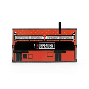 The Independent enamel pin