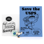 Save The USPS pin and postcard set
