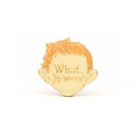 """What..Me Worry?"" enamel pin"