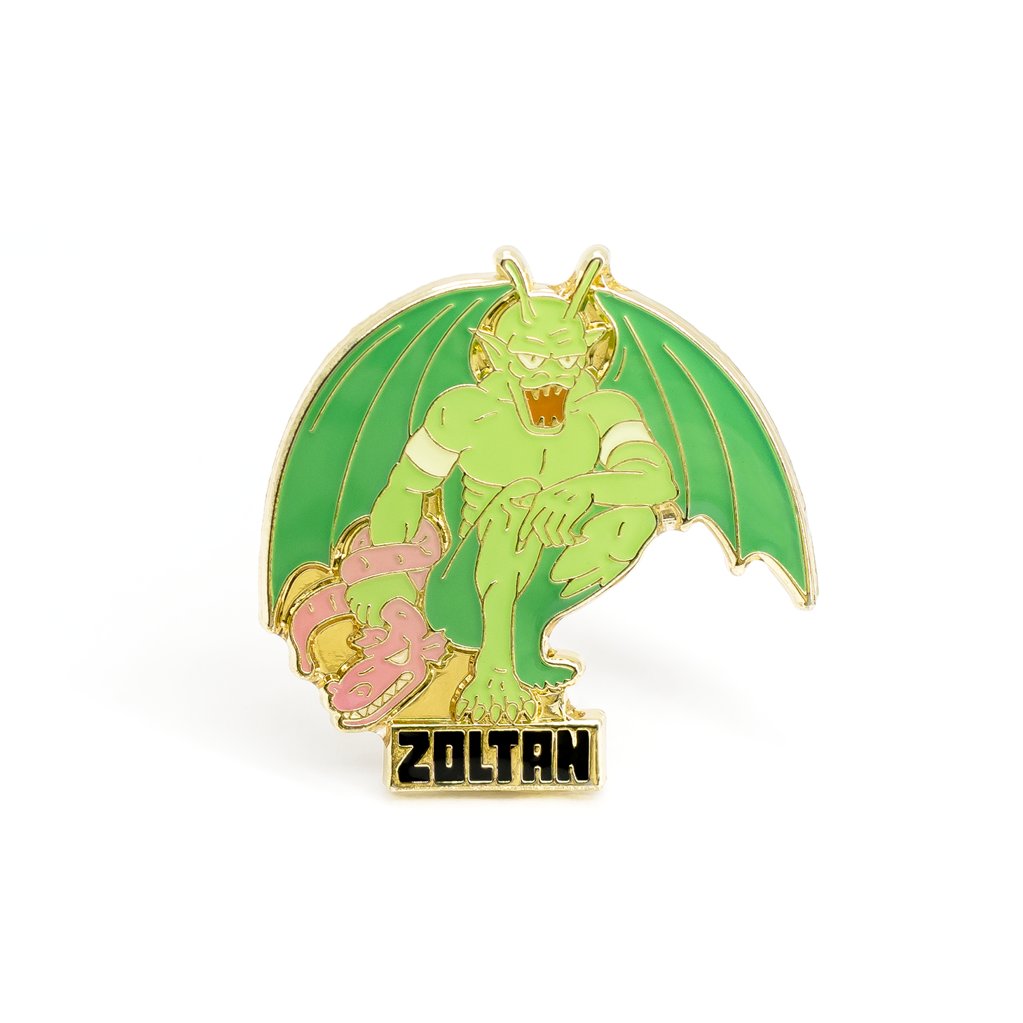 Zoltan enamel pin