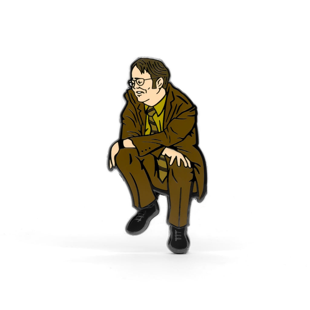 Sad Dwight enamel pin