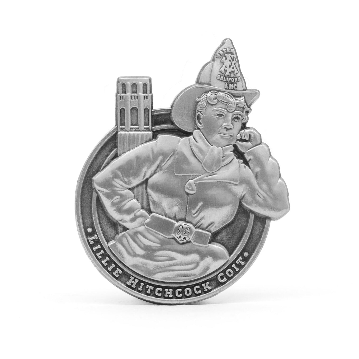 Lillie Hitchcock Coit molded pin