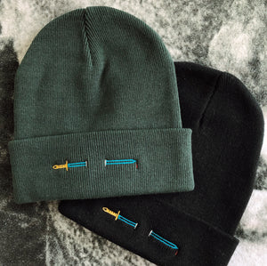 Sword Embroidered Beanie