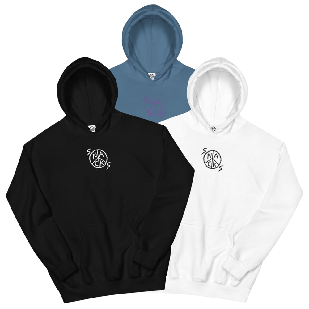 Snacks Embroidered Hoodie