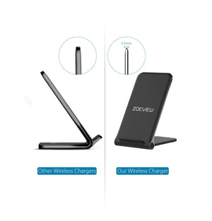ZOEVIEW Ultra-thin Foldable Wireless Charging Pad Stand - Black
