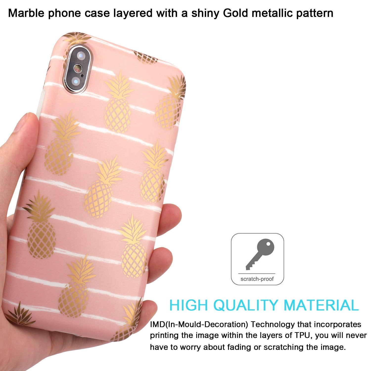 Gold Pineapple - Baby Pink - iPhone X/ XS