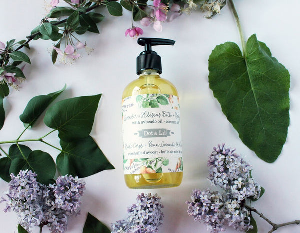 Lavender & Hibiscus Bath + Body Oil