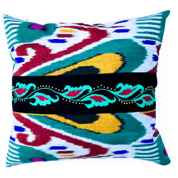 Turquoise Ripple Pillow