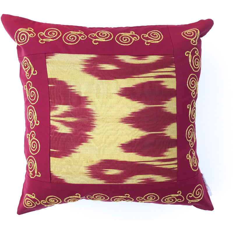 Pomegranate and Gold Pillow