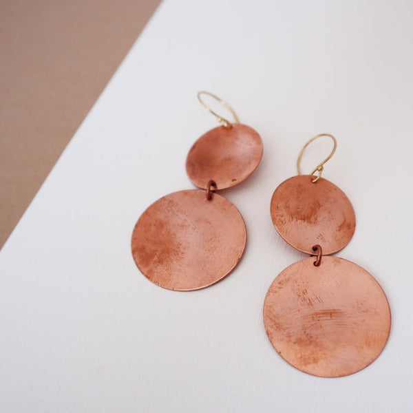 All Around Copper Circle Earrings