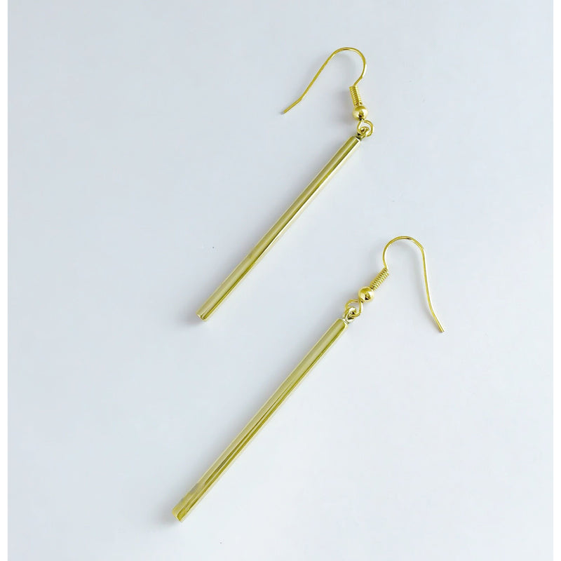 Lek Brass Earrings