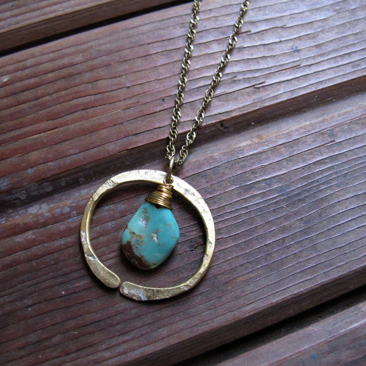 Redwoods Turquoise Necklace