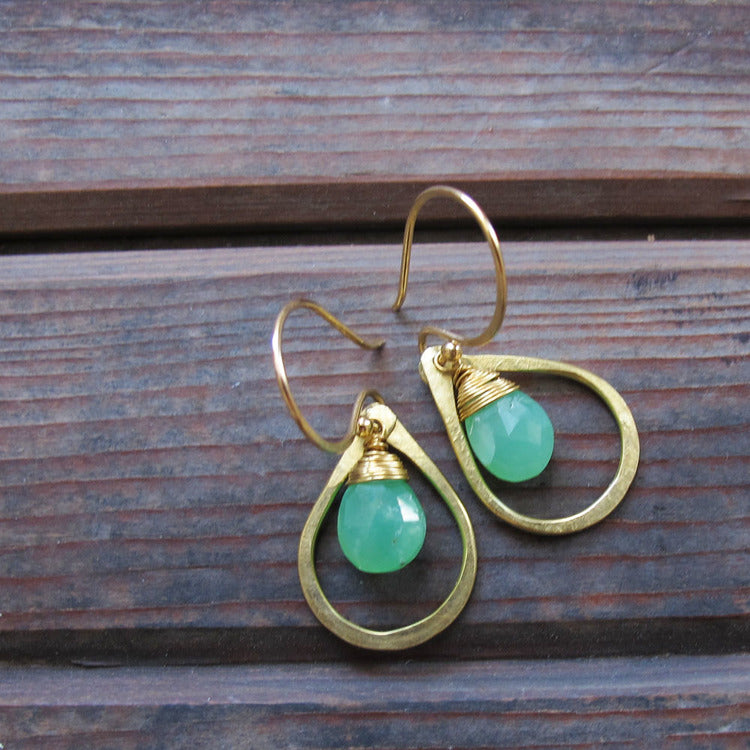 Sundrop Chrysoprase Earrings