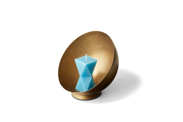 Gold Semi Sphere Candle Holder