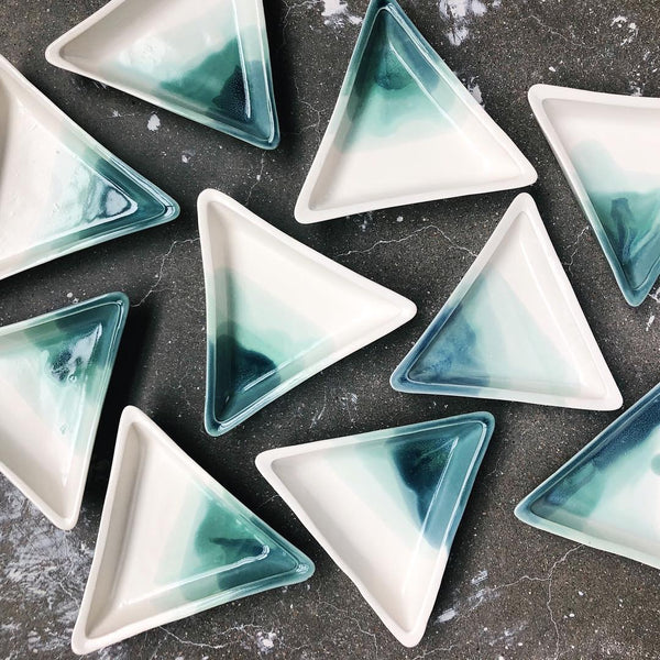 Triangle Ocean Jewelry Dish