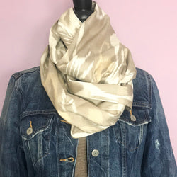 Neutral Lover Infinity Silk Scarf