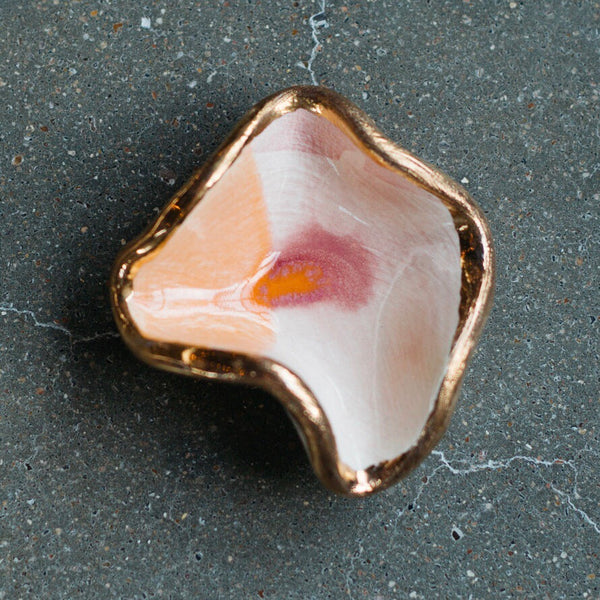 Desert Mermaid Jewelry Dish with 22K Gold