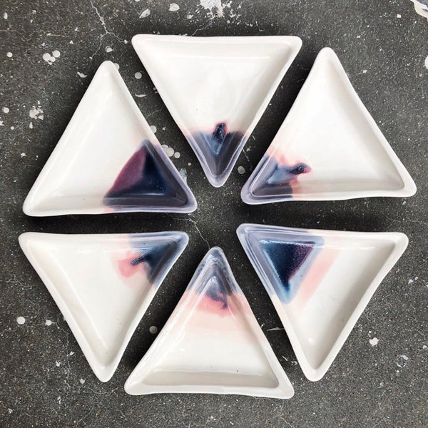 Triangle Sunset Jewelry Dish