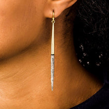 Brass & Grey Javelin Earrings