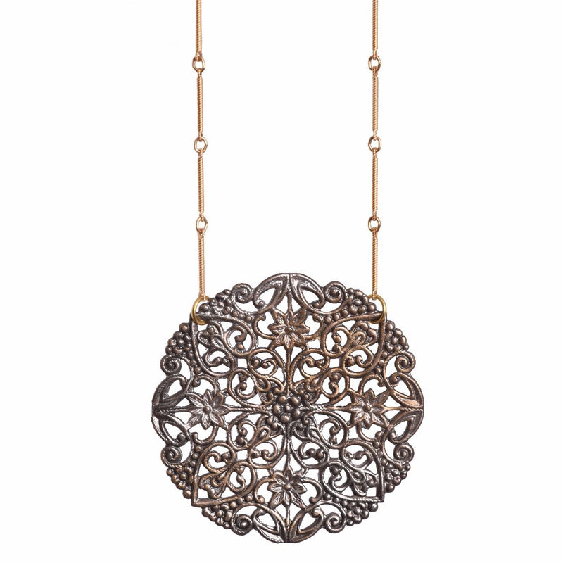 Isabella Noir Lace Necklace