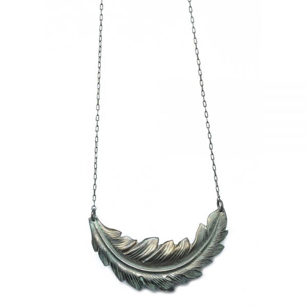 Noir Plume Necklace