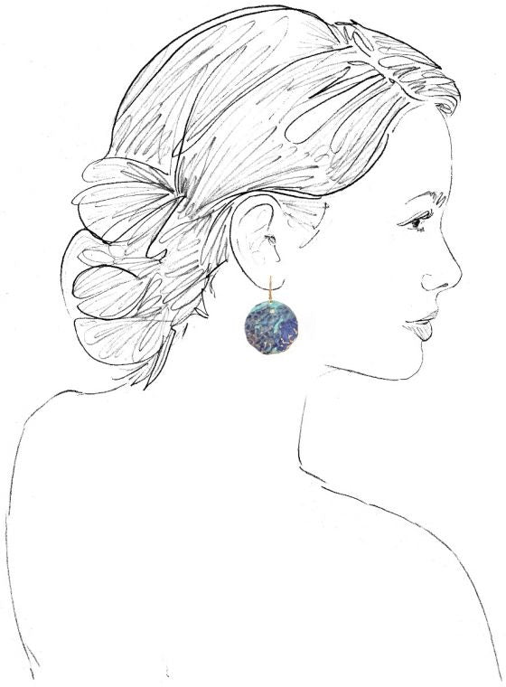 Blue Cebille Earrings