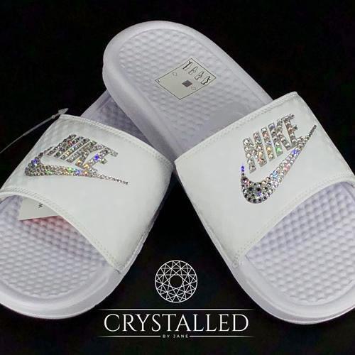 Adidas Adilette Slides Embellished with Swarovski® Crystals 52f7770797