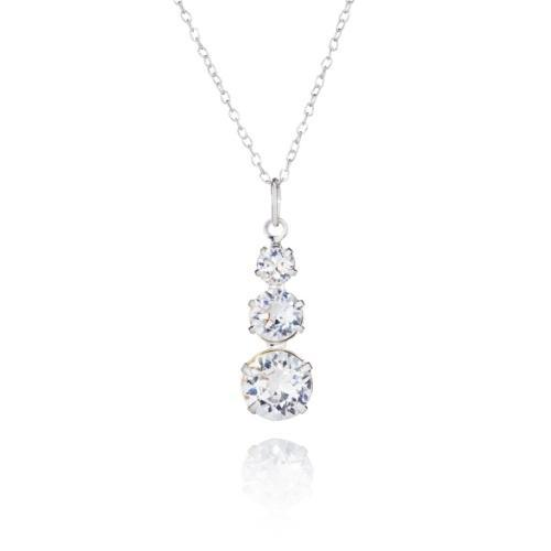 478f17901 Crystal Graduated Pendant Sterling Silver Necklace made with Swarovski®  Crystals-Bespoke Jewellery Collection-