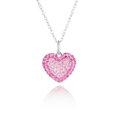 2700e8ce4776 Pavé Heart Pendant Sterling Silver Necklace made with Swarovski® Crystals-Bespoke  Jewellery Collection-
