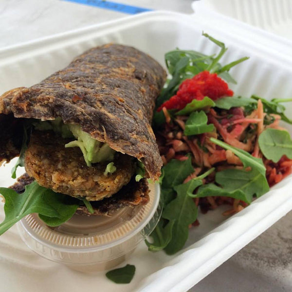 Main - Sprouted Sunflower Falafel Wrap, gluten-free/raw/vegan